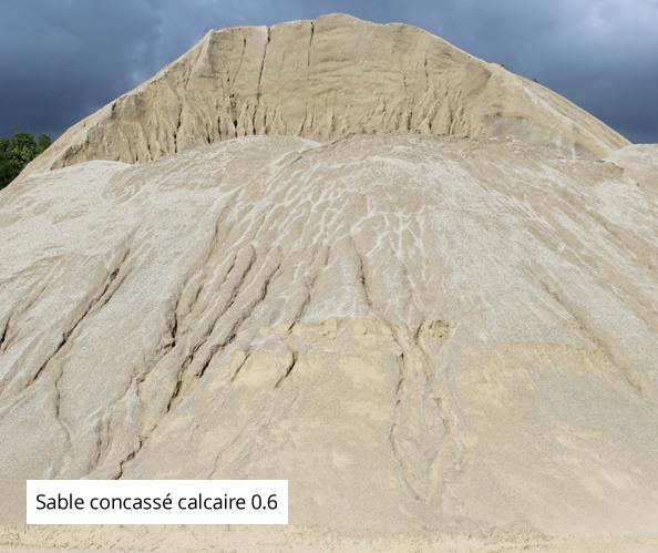 Sable concassé calcaire 0.6 sables, Auxerre, Troyes